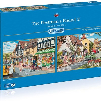 Gibsons The Postman's Round 2 Puzzles - 2 x 500pcs