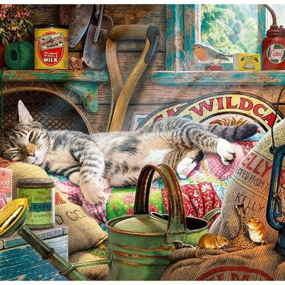 Gibsons Snoozing in the Shed Puzzle - 1000pcs