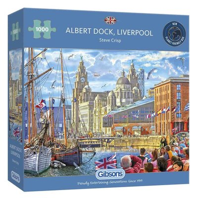 Gibsons Albert Dock, Liverpool Puzzle - 1000pcs