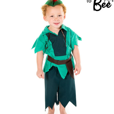 Peter Pan Style Costume - Age 2/3 years