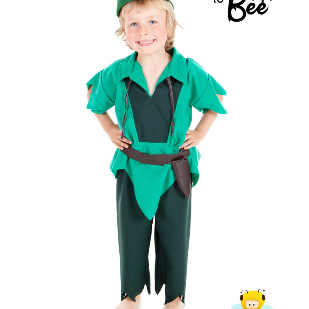 Peter Pan Style Costume - Age 3/5 years