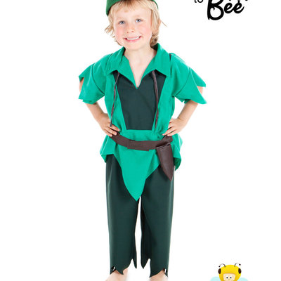 Peter Pan Style Costume - Age 5/7 years
