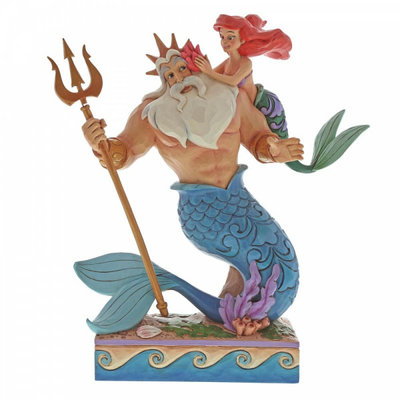 Disney Traditions Disney - Ariel & King Triton - Daddy's Little Princess - 4059730