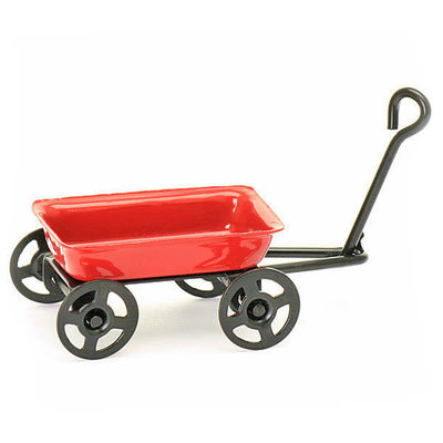 Fairy Village Mini Red Fairy Wagon