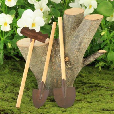 Fairy Village Rusty Garden Tools Set of 3