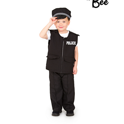 Police Officer Costume - Age 3/5 years