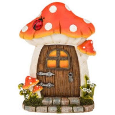 Joe Davies Fairy Glade Welcome Fairy Door Mushroom - sm