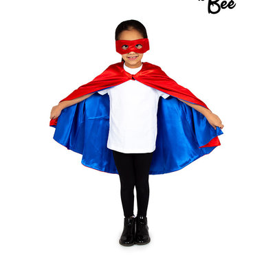 Superhero Cape Red & Blue - Age 3/7 years