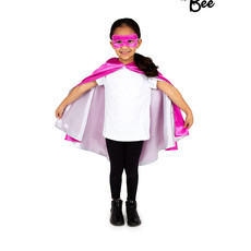 Superhero Cape Pink & Silver - Age 3/7 years
