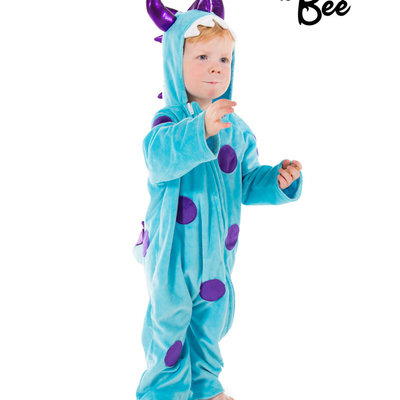 Monster All in One Costume Blue - Age 2/3 years