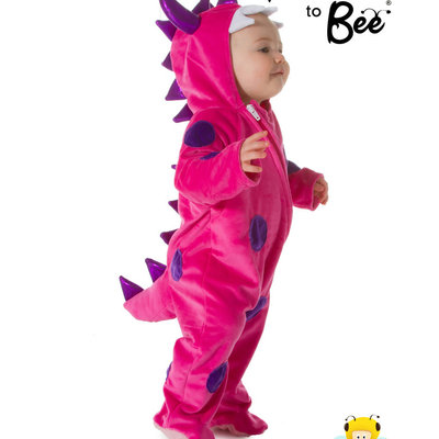 Monster All in One Costume Pink - Age 12/18 mths