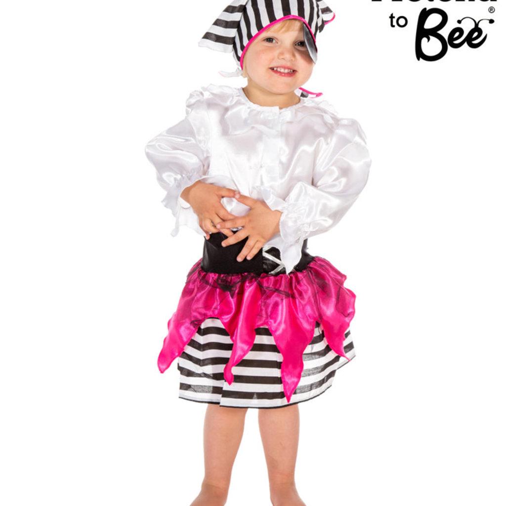 Pirate Girl Costume - Age 3/5 years
