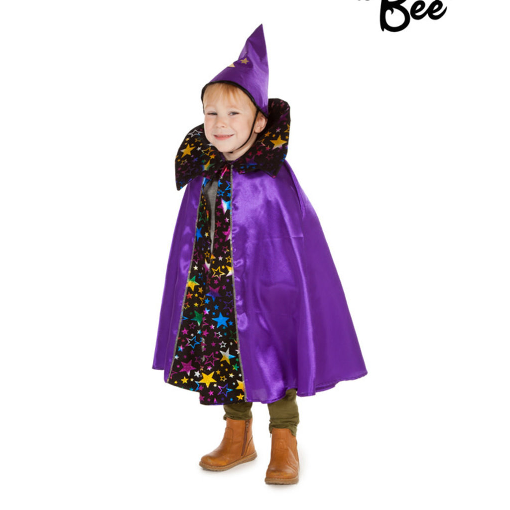Wizard Cape & Hat Costume - Age 3/7 years