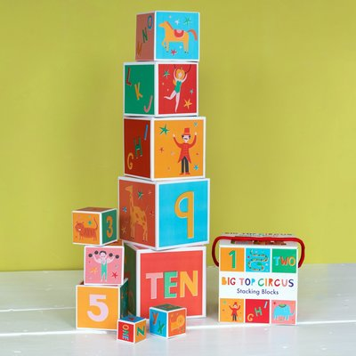Big Top Circus Nesting / Stacking Blocks - Set of 10