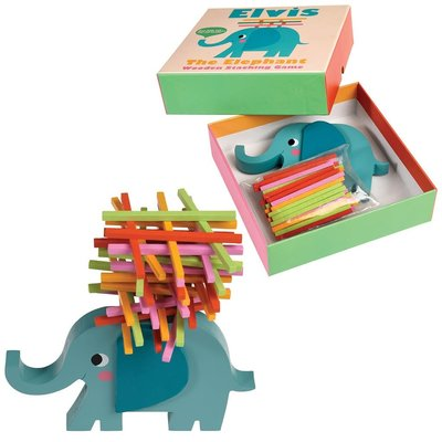 Elvis The Elephant Wooden Stacking Game