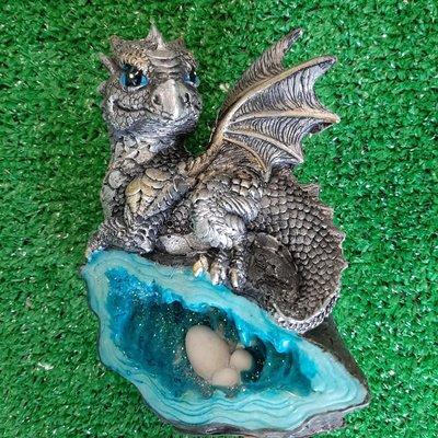 Alator Giftware Nemesis - Nest Guardian Dragon Blue