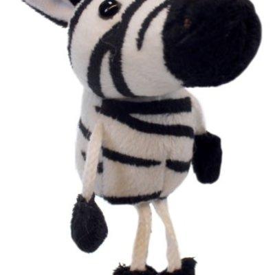The Puppet Company Finger Puppet - Plush Zebra