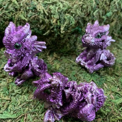 Alator Giftware Geode Gathering Purple Dragon