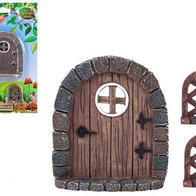 The Fairies Enchanted Garden Secret Fairy Garden Woodland Door & Trellis Set