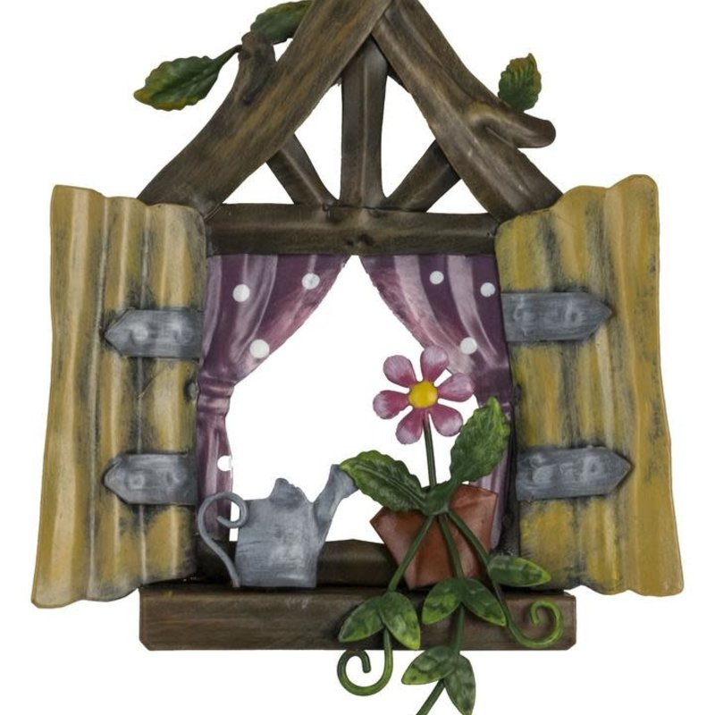 Pixie World Pixie Window - Pink Polkadot Curtains
