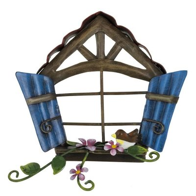 Pixie World Pixie Window with Blue Wooden Style Shutters