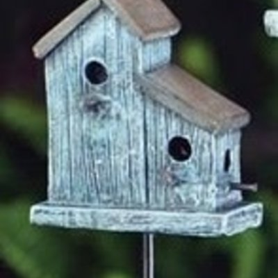 Fiddlehead Fiddlehead - Rustic Bird House - Blue