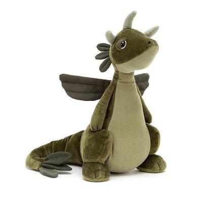 Jellycat - Little Legs Jellycat - Olive Dragon
