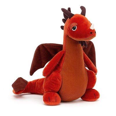 Jellycat - Little Legs Jellycat - Paprika Dragon