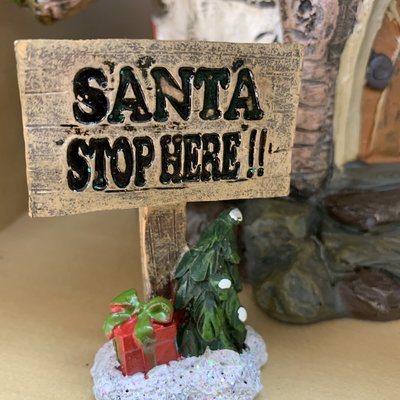 Fiesta Studios Santa Stop Here! Sign