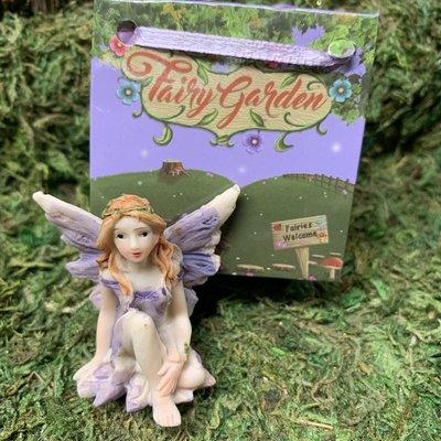 Flower Garden Fairy in Bag - Purple
