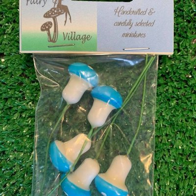 Fairy Village Mini Toadstools x5