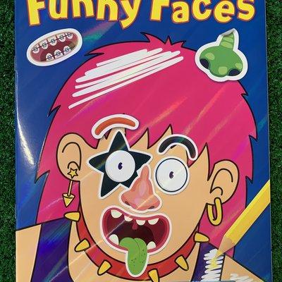 Funny Faces - Sticker and Colour Fun