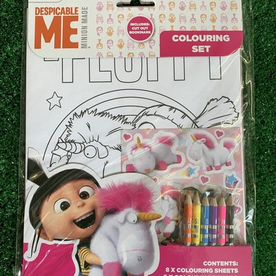 Despicable Me Fluffy Colouring Set