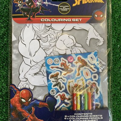 Marvel Spiderman Colouring Set