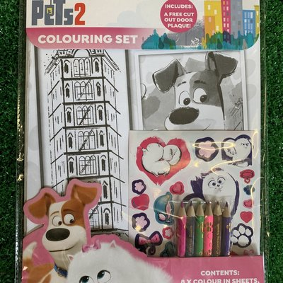 Secret Life of Pets 2 Colouring Set