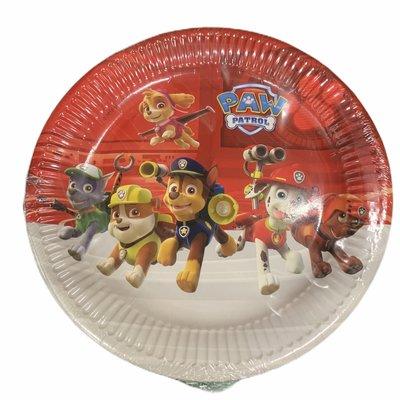 Paw Patrol Paw Patrol Red - 8 x 23cm Round Paper Plates