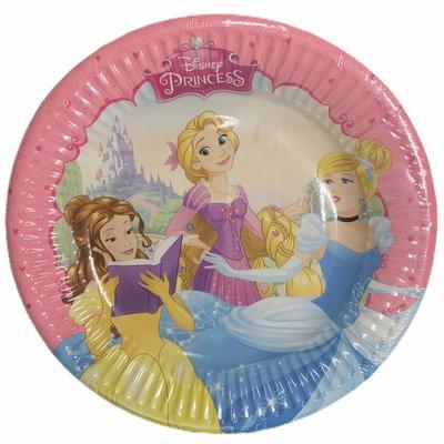 Disney Disney's Princess - 8 x 19.5 cm Round Paper Plates