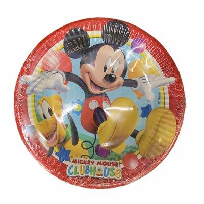 Disney Disney's Mickey Mouse - 8 x 19.5 cm Round Paper Plates