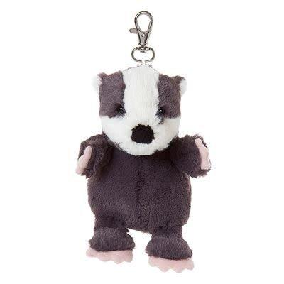 All Creatures Bag Charm Badger Keyring - Milton
