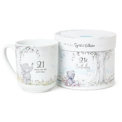Tatty Ted Boxed 21st Birthday Mug