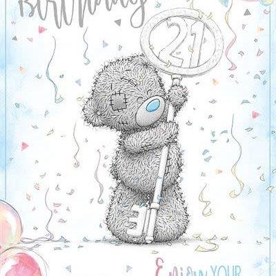 Tatty Ted 21st Birthday Card