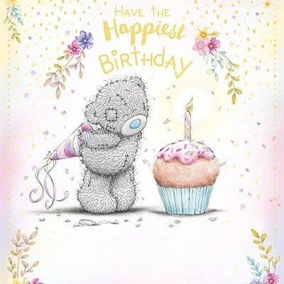 Tatty Ted Birthday Bear & Cupcake Card
