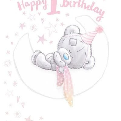 Tatty Ted Happy 1st Birthday Card - Daughter