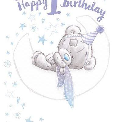 Tatty Ted Happy 1st Birthday Card - Son
