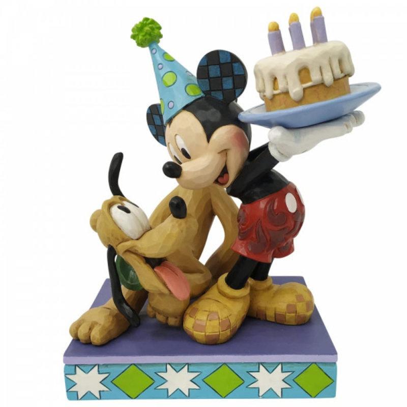 Disney Traditions Disney - Mickey & Pluto - Happy Birthday Pal Figurine