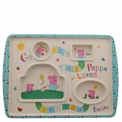 Peppa Pig Peppa Pig - Bamboo Game Plate