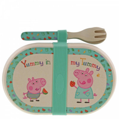 Peppa Pig Peppa Pig - Bamboo Snack Box with Cutlery Set