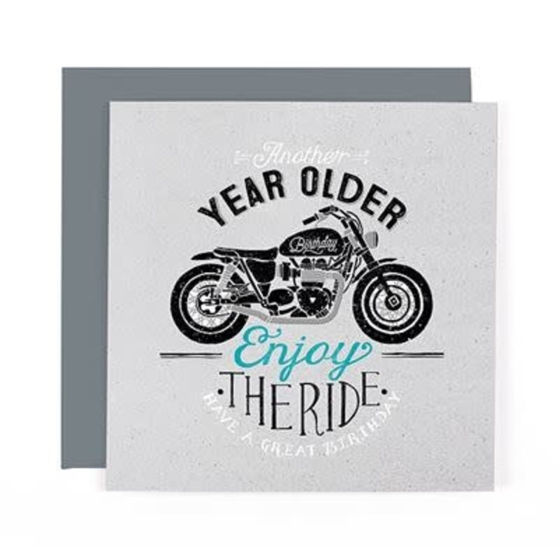 Hotchpotch Motorcycle Birthday Card