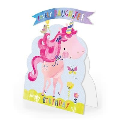 Hopchpotch Lovely Daughter Happy Birthday Unicorn Card