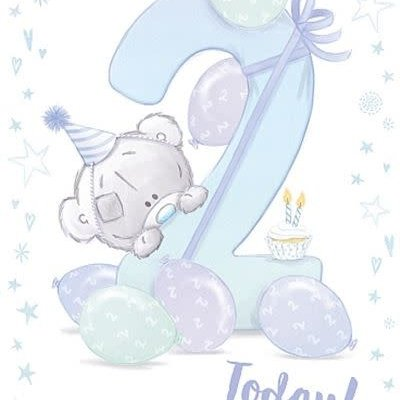 Tatty Ted 2nd Birthday Card - Boy